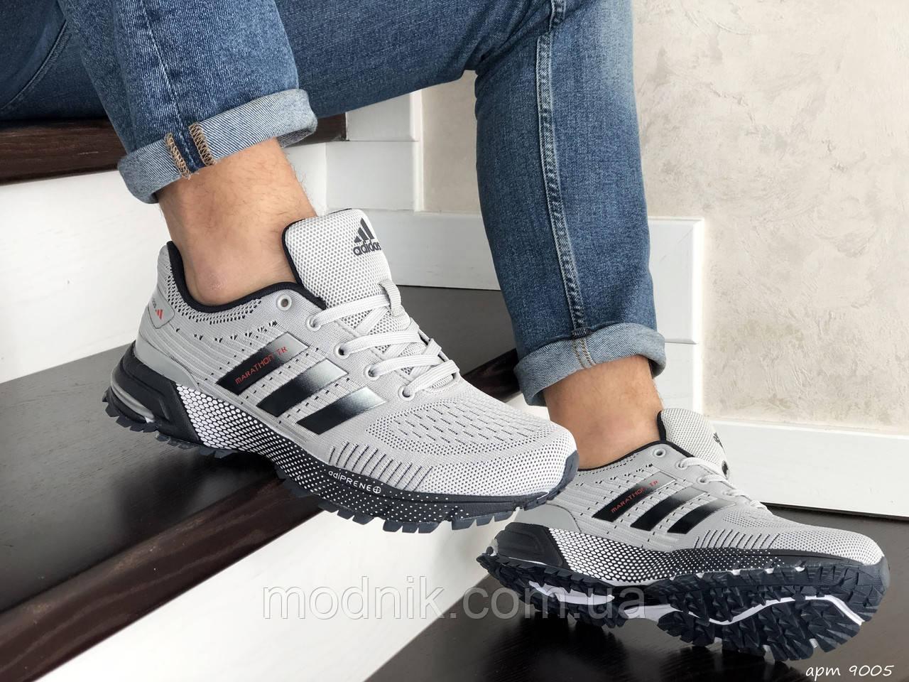 Мужские кроссовки Adidas Marathon TR (серые) 9005