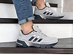 Мужские кроссовки Adidas Marathon TR (серые) 9005, фото 3