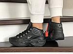 Женские кроссовки Reebok (черные) 9019, фото 4