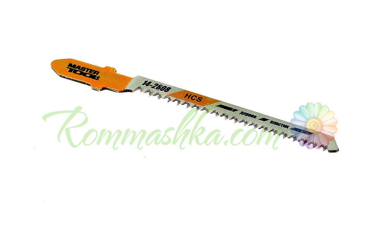 Полотно пильное для лобзика Mastertool - 53 х 1,4 мм, дерево-пластик (5 шт.)