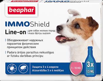 Капли от блох и клещей для собак весом 1-15 кг Beaphar IMMO Shield 3 шт/уп