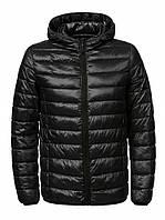 Куртка мужская черная стеганая Glo-Story