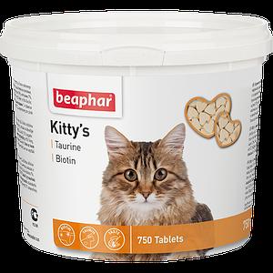 Кормовая добавка Kitty's + Taurine-Biotine с биотином и таурином для кошек 180 табл.