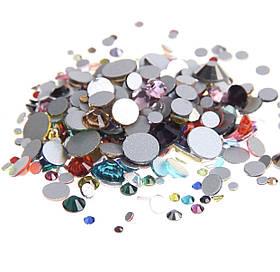 Камни Микс стекло 100 шт разноцветные