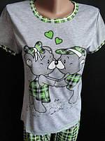 Пижамки хорошего качества женские с мишкой. Арт. 57321, фото 1
