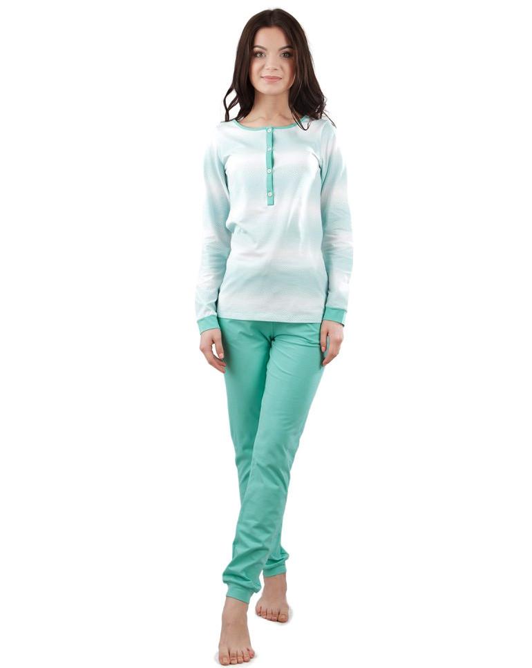 Трикотажная женская пижама (XS-2XL)