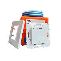 Сенсорный wi-fi программируемый регулятор для теплого пола Terneo SX, Wi-Fi / белый  с датчиком 10 кОм, фото 1