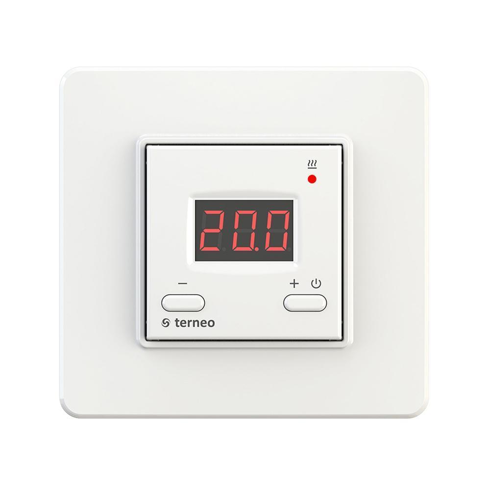 Простой терморегулятор Terneo ST / белый / в стандартной рамке / пропорциональная система регулирования