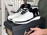 Чоловічі кросівки Nike Air Jordan (біло-чорні) 9030, фото 2