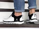 Мужские кроссовки Nike Air Jordan (бело-черные) 9030, фото 4
