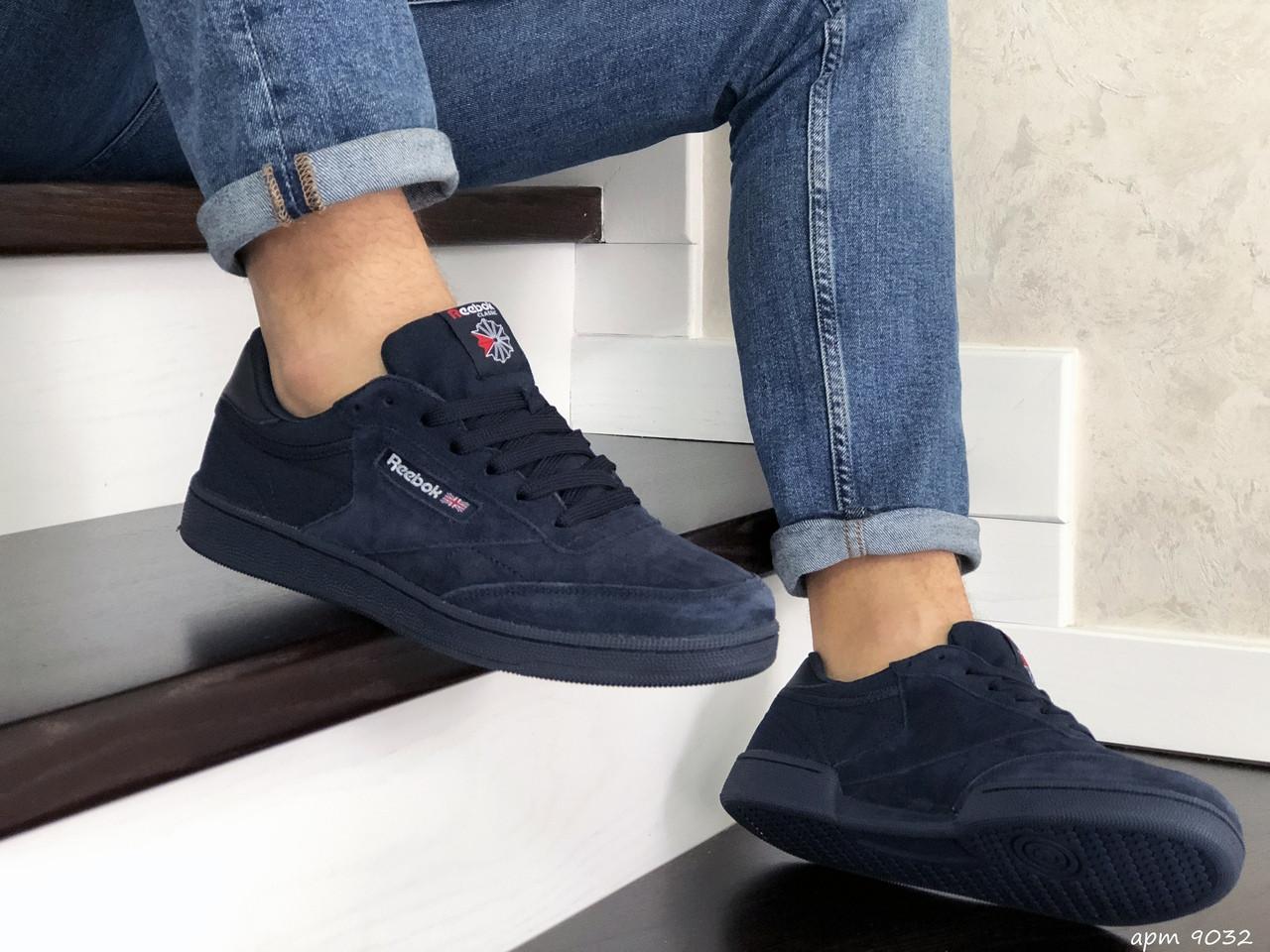 Мужские кроссовки Reebok (темно-синие) 9032