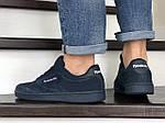 Мужские кроссовки Reebok (темно-синие) 9032, фото 4