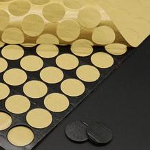 Двусторонняя клеевая липучка -крепеж, 2,5 см, цвет черный, 9 шт