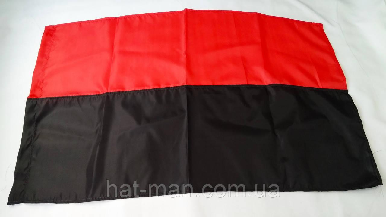 Прапор червоно-чорний великий: 140 на 85см, з креп-сатину