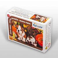 Мини-пазл 54 элемента Код: PZ-1603 Собаки в тыквах Бумагия