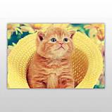 Мини-пазл 54 элемента Код: PZ-1607 Котик в шляпе Бумагия, фото 3
