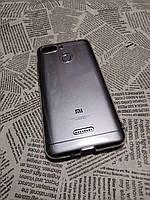 Прозрачный силиконовый чехол Clear Case Блестки для Xiaomi (Ксиоми) Redmi 6A (с вырезом)