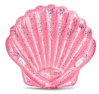 """Intex Детский надувной плотик 57257 EU """"Розовая ракушка"""" (3) размер 178х165х24см, от 6-ти лет"""