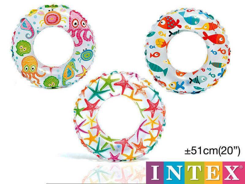 Intex Круг 59230 NP (36) цветной 3 вида, диаметром 51см, от 3 до 6 лет