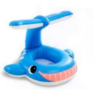 "Intex Надувная лодочка 56591 NP ""Голубой кит"" (12) от 1 года, 99х86см, в коробке"