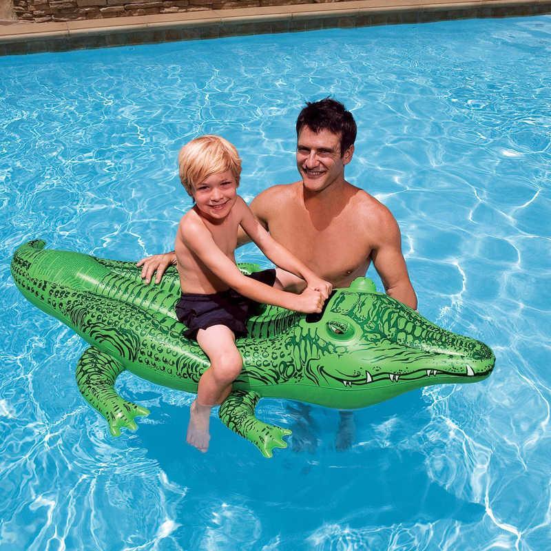 "Intex Плотик 58546 NP ""Крокодил"" (12) размером 168х86см, от 3-х лет"