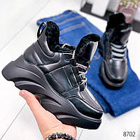 Ботинки женские Wave черные 8702, фото 1