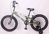 Детский двухколесный велосипед FREE WHEEL 20 Green, фото 2