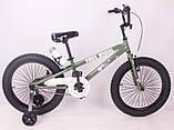 Детский двухколесный велосипед FREE WHEEL 20 Green, фото 3