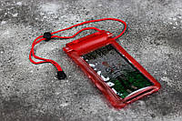 """Водонепроницаемый чехол для мобильных телефонов до 6"""" LVD C25225-1 10,5x20 см Red"""