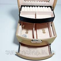 Шкатулка для украшений кожзаменитель, фото 3