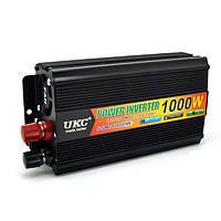 Инвертор автомобильный преобразователь напряжения UKC 12V-220V 1000W