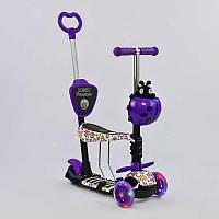 Самокат 5в1 97240 (1) Best Scooter, АБСТРАКЦИЯ, PU колеса, ПОДСВЕТКА  КОЛЕС, в коробке