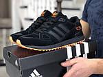 Мужские кроссовки Adidas ZX 750 (черные) 9042, фото 2