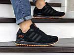 Мужские кроссовки Adidas ZX 750 (черные) 9042, фото 3