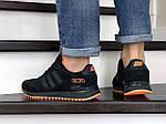 Мужские кроссовки Adidas ZX 750 (черные) 9042, фото 4