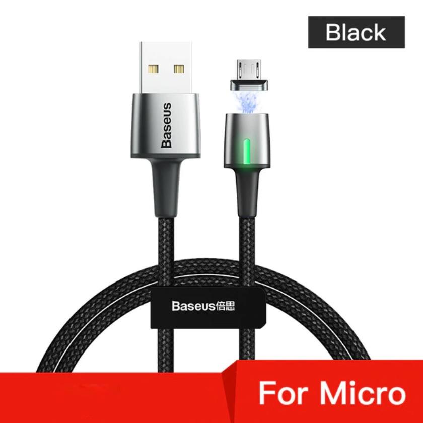 Магнитный кабель Baseus Micro USB с быстрой зарядкой 3A