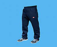 Брюки Nike трикотажные,прямые.Синие.