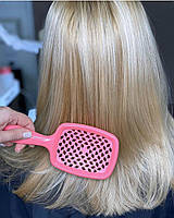 Расческа для волос Janeke 1830 Superbrush The Original Italian Розовый Neon, фото 1