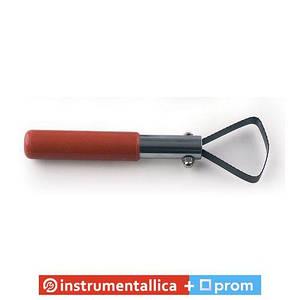 Скребок двухсторонний с пластмассовой ручкой