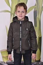 Демисезонная короткая   куртка для мальчиков на рост 134-164
