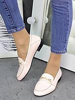 Туфли кожаные пудра Пегги 7257-28