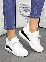 Сникерсы белые кожаные 7264-28, фото 1