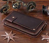 Кожаная мужская барсетка Vintage 14193 коричневая, фото 1