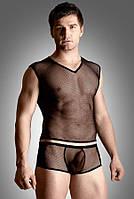 Комплект белья - Net set, shirt and thong, черный
