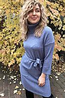 Платье с хомутом и укороченными широкими рукавами Les etoiles claires - джинс цвет, S/M (есть размеры)