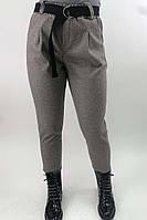 Суконные брюки в елочку JY - кофейный цвет, L (есть размеры), фото 1
