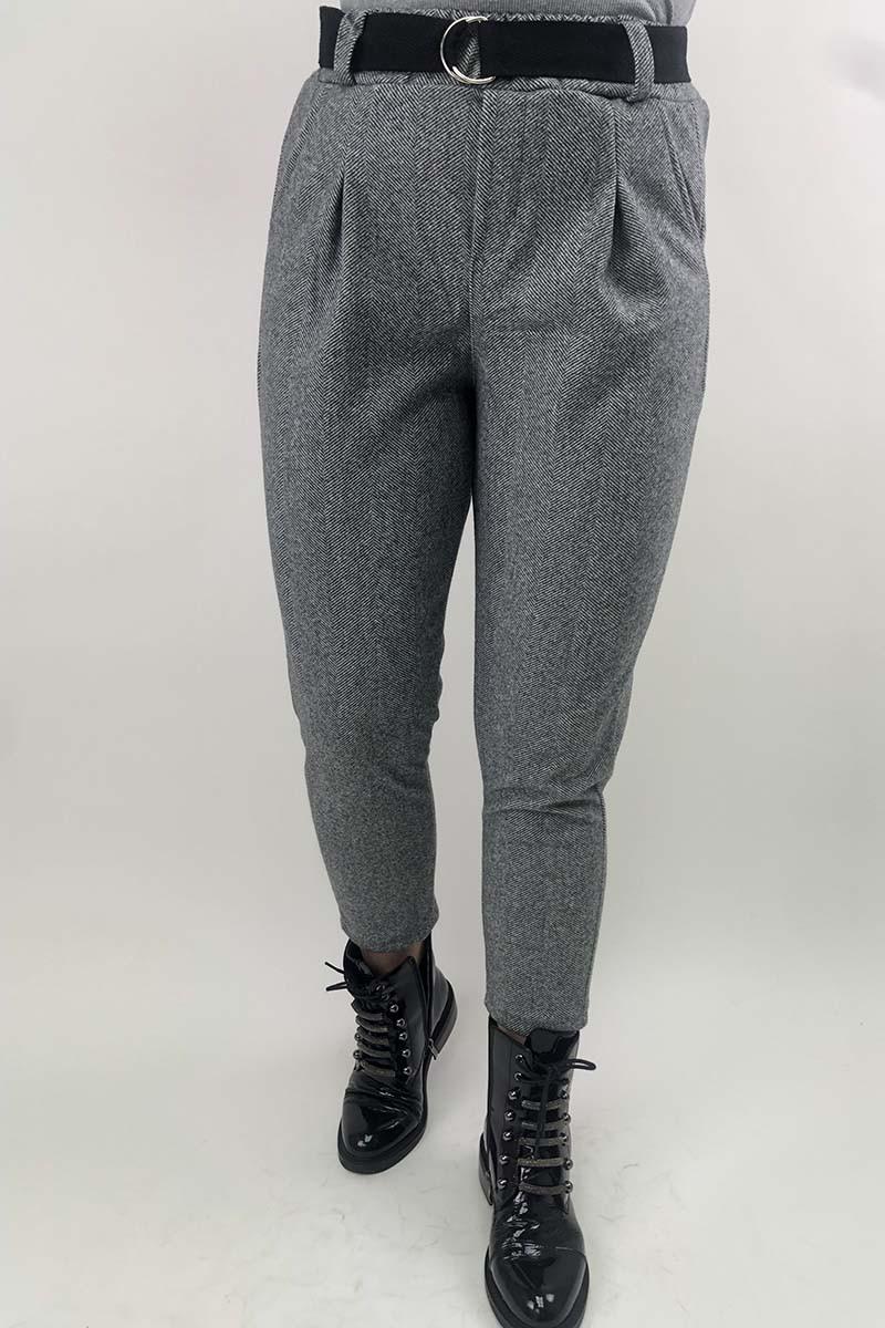 Суконные брюки в елочку JY - серый цвет, XL (есть размеры)