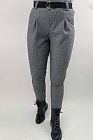 Суконные брюки в елочку JY - серый цвет, XL (есть размеры), фото 1