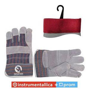 Перчатка комбинированная из замши и ткани SP-0014 Intertool