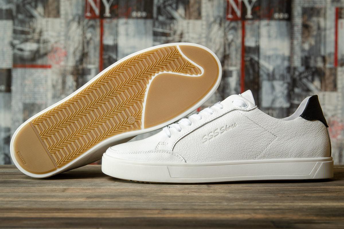 Кроссовки мужские 16631, SSS Shoes, белые, < 42 43 44 > р. 42-28,0см.